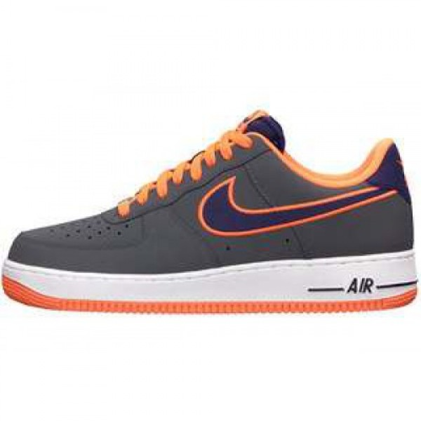 Nike Air Force 1 QS DARK GREY/IMPRL PRPL-TTL ORNG ...
