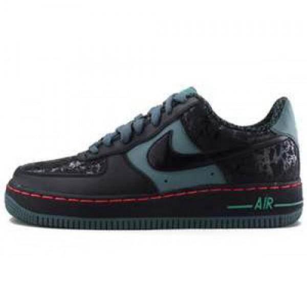 Nike Air Force 1 (GS) BLACK/BLACK-HASTA-STDM GREEN ナイキ ガールズ エア フォース1 (GS) ブラック/ハスタ スタジアムグリーン 314192-079