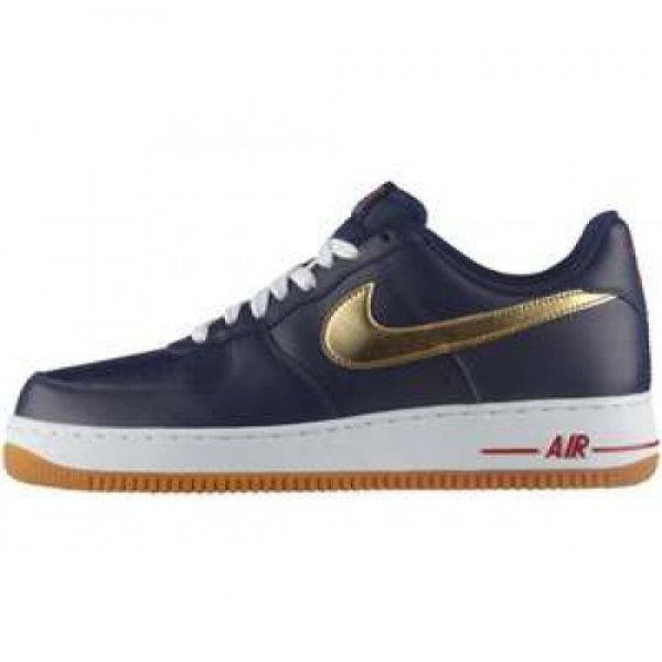 Nike Air Force 1 '07 LE Olympic NAVY/MTLLC GLD-SPR...