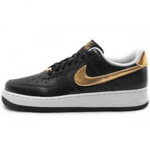 Nike Wmns Air Force 1 '07 BLACK/METALLIC GOLD-WHIT...