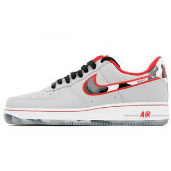 Nike Air Force 1 WOLF GREY/HYPER RED ナイキ エ...