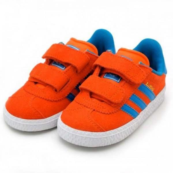 KIDS【キッズ】adidas GAZELLE 2CF1 アディダス ガッツレー 2 CF 1【2012新作】ORANGE/TURQUOISE g61060