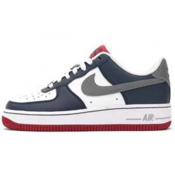 Nike Air Force 1 (GS) WHITE/COOL GREY-SQDRN BL-OBS...