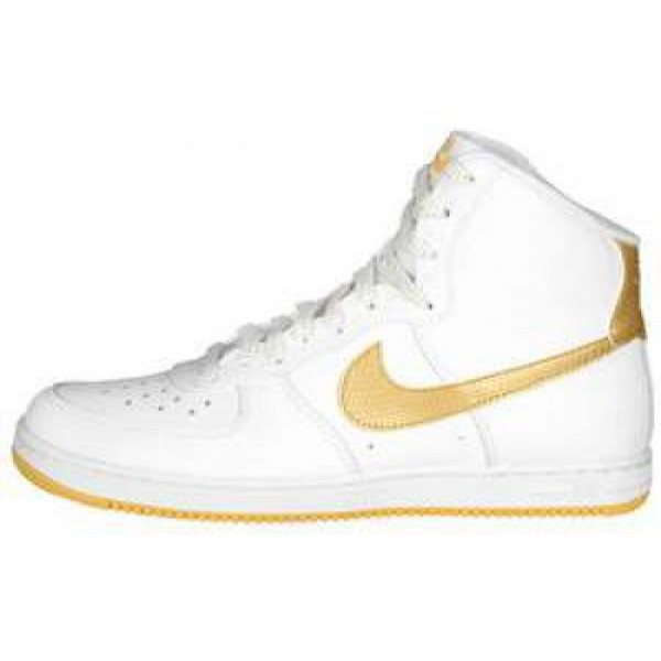 Wmns Nike Air Force 1 Light High WHITE/METALLIC GO...