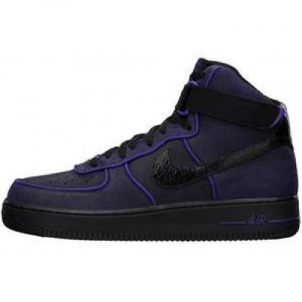 Nike Air Force 1 High'07 BLACK/BLACK-COURT PURPLE ...