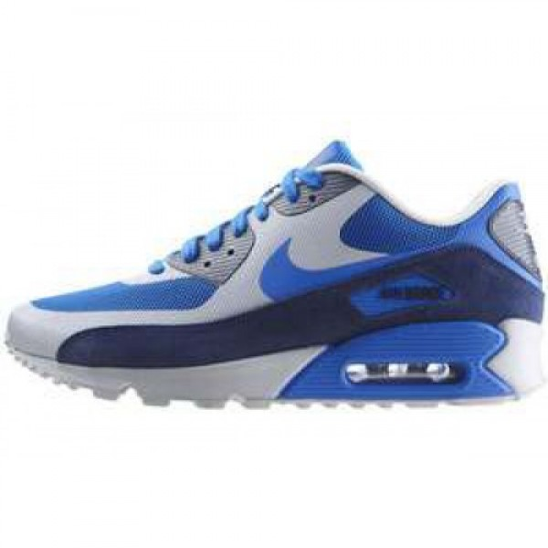 Nike Air Max 90 LE OBSIDIAN/UNIVERSITY BLUE-WHITE ...