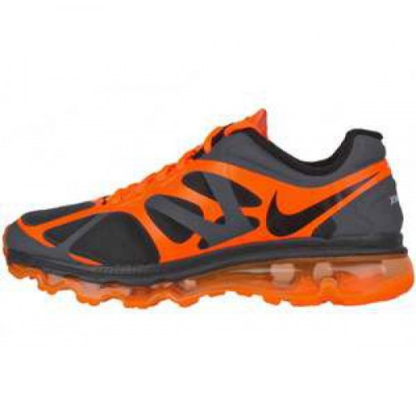 Nike Air Max +2012 (GS) ANTHRACITE/BLK-TTL ORNG-WH...