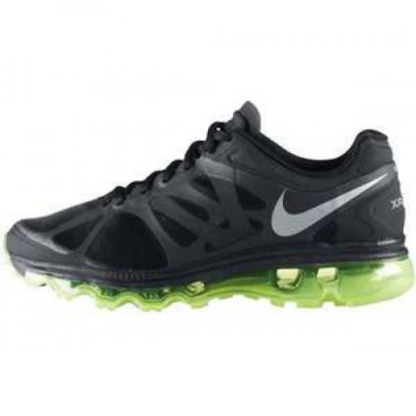 Nike Wmns Air Max+2012 BLACK/MTLLC SILVER-ELCTRC G...