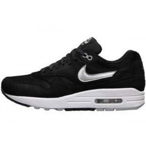 Nike Wmns Air Max 1 PRM BLACK/MTLLC SILVER-WHITE-S...