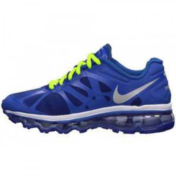 Nike Air Max +2012 (GS) GM ROYAL/MTLLC SLVR-VLT-WH...