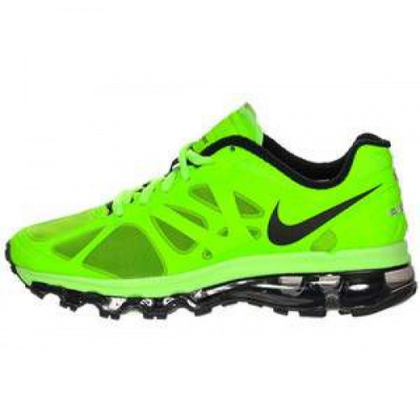 Nike Air Max +2012 (GS) ELECTRIC GREEN/BLACK-WHITE...