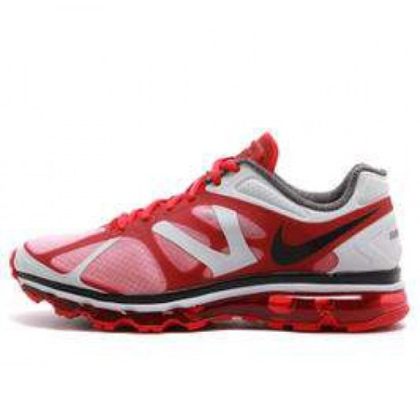 Nike Air Max +2012 UNIVERSITY RED/BLK-MTLLC SLVR �...