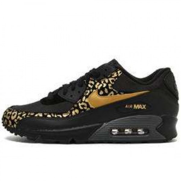 Nike Wmns Air Max 90 BLACK/METALLIC GOLD-ANTHRACIT...