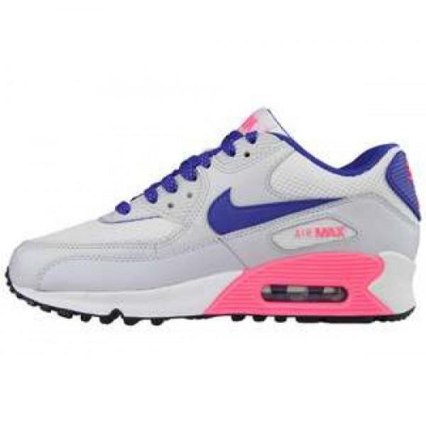 Nike Air Max 90 2007 (GS) WHT/HYPR BL-DGTL PNK-PR ...