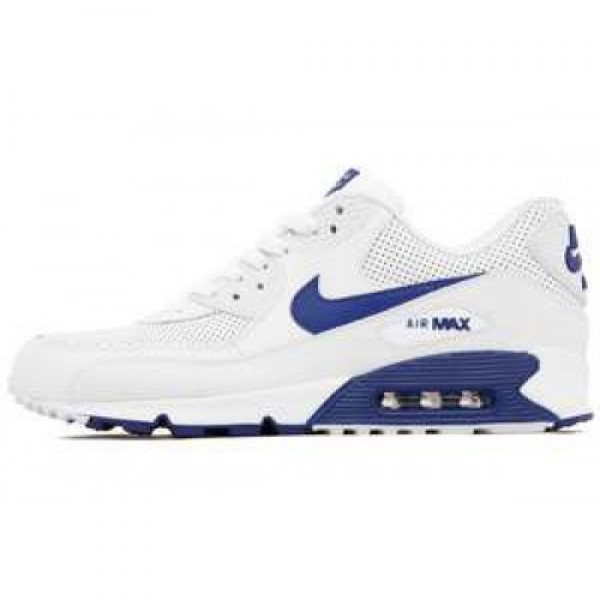 Nike Air Max 90 Essential WHITE/DEEP ROYAL BLUE-WH...