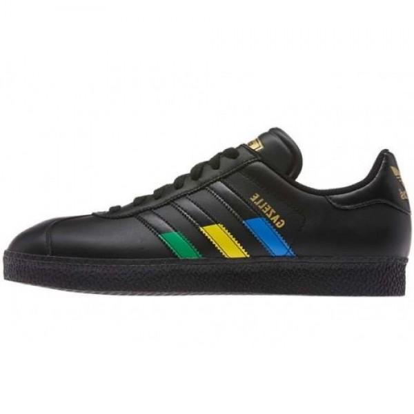 adidas Gazelle II BLACK/BLUE/YELLOW/GREEN ブラック/ブルー/イエロー/グリーン (G97299) 専門店 人気新作入荷!