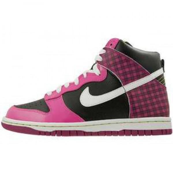 Nike Dunk High (GS) BLACK/WHITE-DESERT PINK-RV PNK ナイキ エア ダンク ハイ ブラック/ホワイト デザートピンク 6604-008