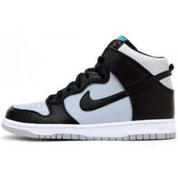 Nike Dunk High'08 LE WOLF GREY/BLACK-TURQUOISE BLU...