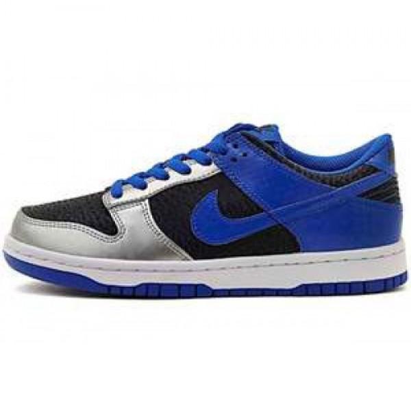 Nike Dunk Low (GS) DRK OBSDN/SGNL BL-MTLLC SLVR-W ...