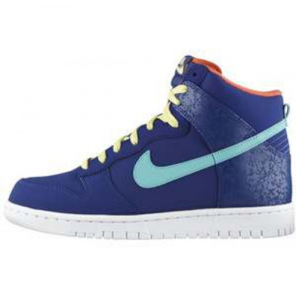 Nike Dunk High'08 LE WHITE/VOLT-BLACK-FIREBERRY �...