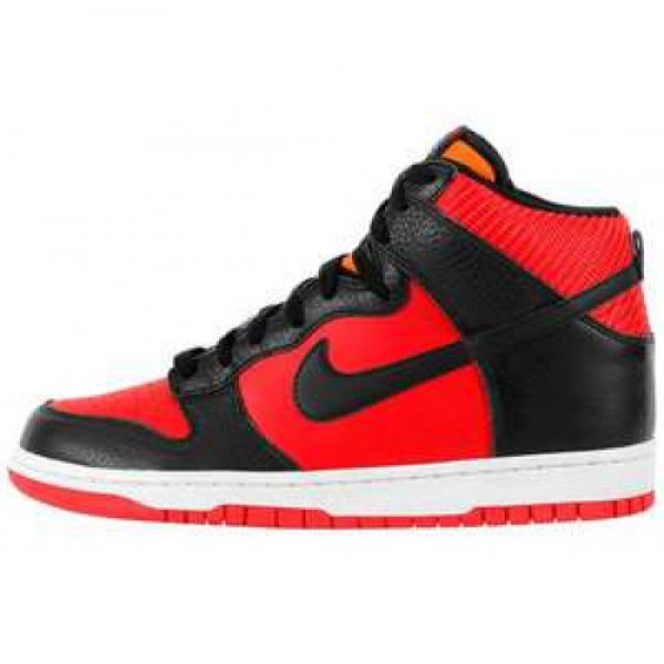 Nike Dunk High'08 LE CHALLENGE RED/BLACK-MANDARIN ...