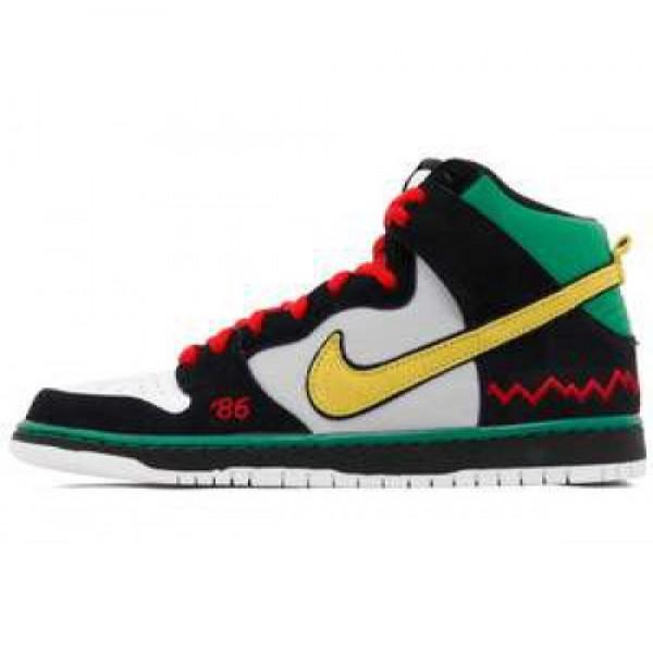 Nike Dunk High Pro Premium SB BHM McRad BLACK/VIVI...