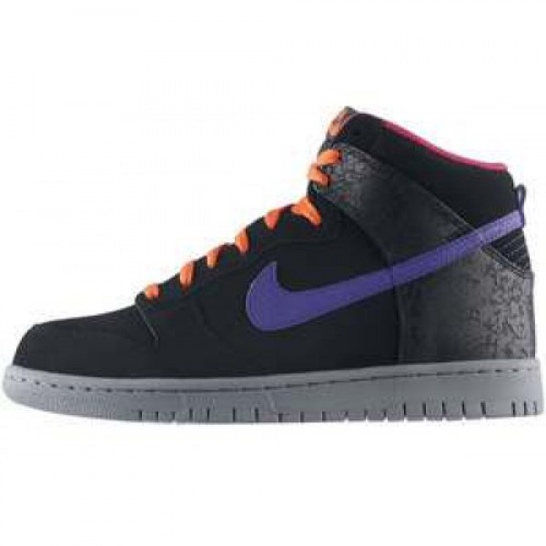 Nike Dunk High BLK/CRT PRPL-ELCTR ORNG-CL GRY ナ�...