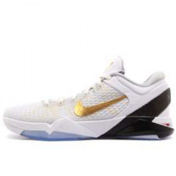 Nike Zoom Kobe VII Elite WHITE/MTLLC GOLD-BLK-NTRL...
