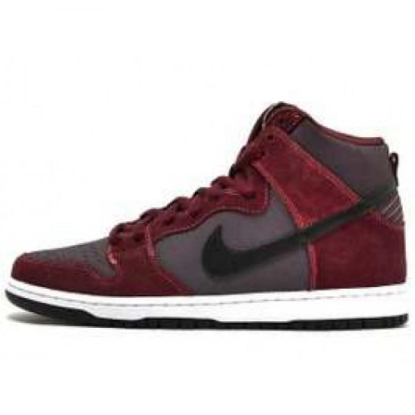 Nike Dunk High Pro SB DP BURGUNDY/BLK-GRDRN-DSRT B...