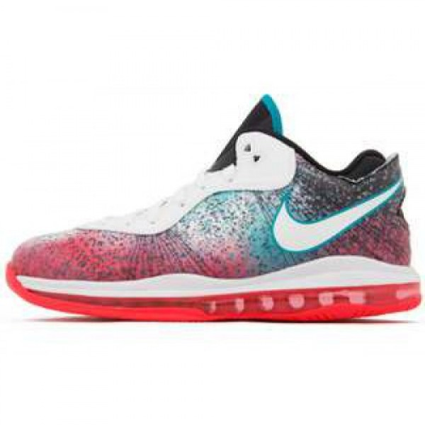 Nike LeBron 8 V/2 Low Miami Nights white/solar red-glass blue ナイキ レブロン 8 ロウ マイアミ・ナイト 456849-101 大得価2015激安限定