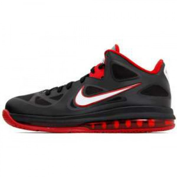 Nike LeBron 9 Low BLACK/WHITE-COOL GREY-SPRT RED �...