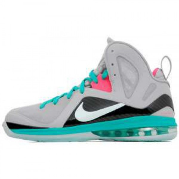 Nike LeBron 9 P.S. Elite South Beach WLF GRY/MNT C...