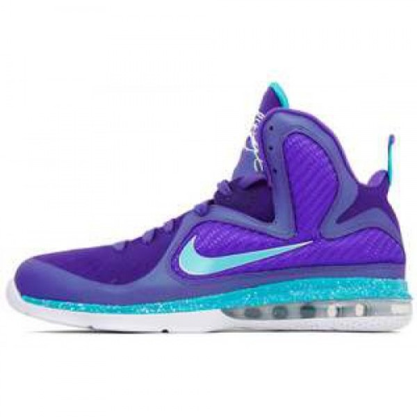 Nike LeBron 9 Summit Lake Hornets PURE PURPLE/TURQ...