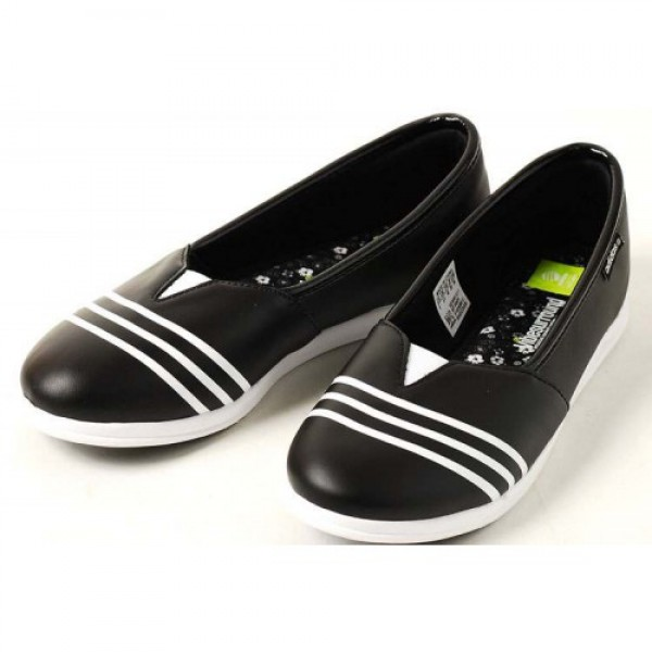 adidasアディダス restyle slipon leather BLACK...