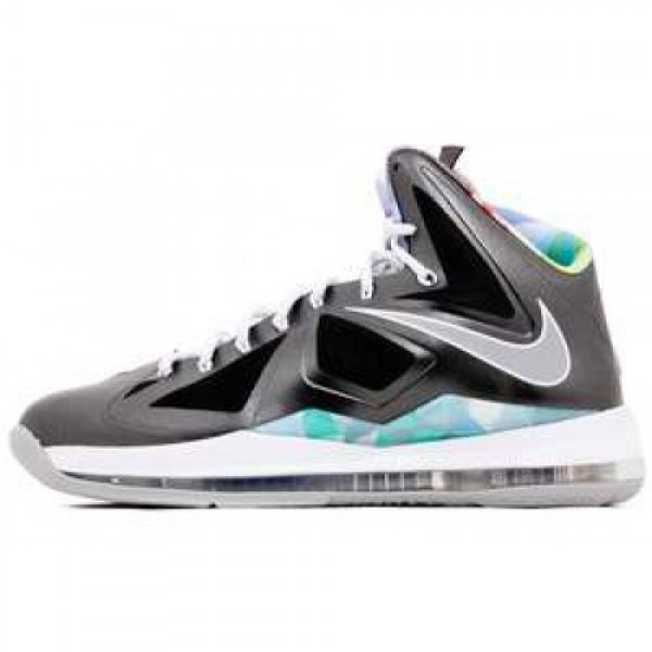 Nike Lebron X Prism BLACK/STRATA GREY-WHITE ナイ...