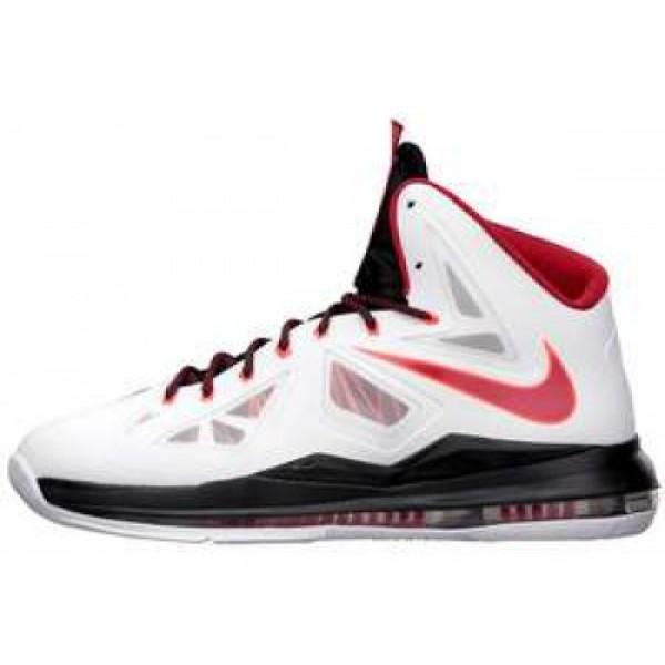 Nike LeBron X XDR WHT/UNVRSTY RD-BLCK-TTL CRMSN �...