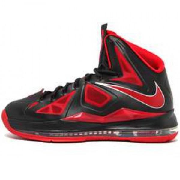 Nike Lebron X XDR BLACK/UNVRSTY RED-MTLLC SLVR ナ...