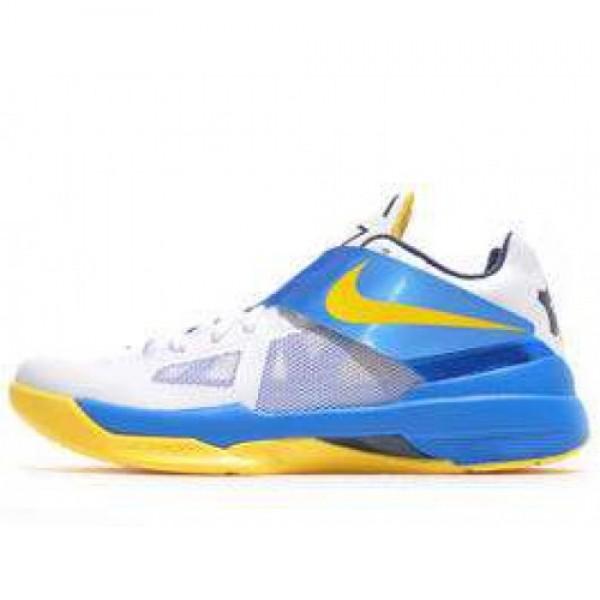 Nike Zoom KD IV WHITE/TR YELLOW-PHT BL-MID NVY ナイキ ズーム ケーディー 4 ホワイト/ブルー イエロー 473679-102