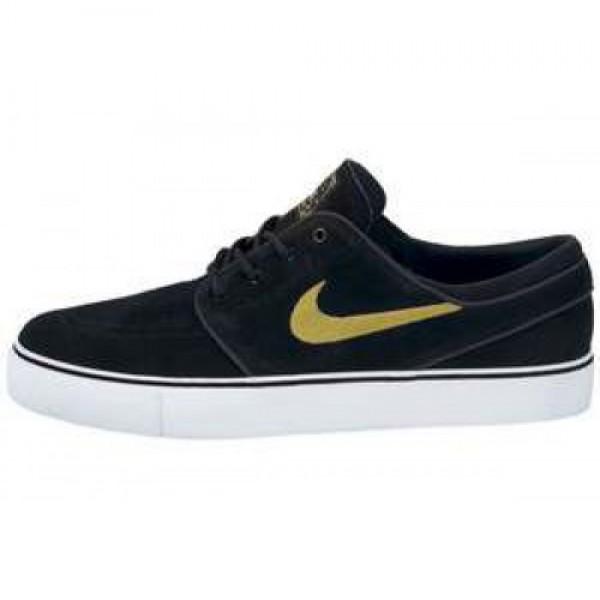 Nike Zoom Stefan Janoski SB BLACK/METALLIC GOLD-WH...