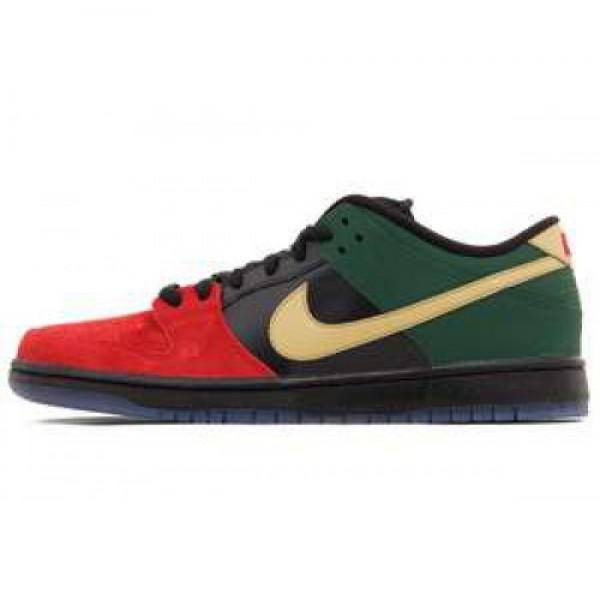 Nike Dunk Low Pro SB BHM Black History Month UNVRSTY RED/MTLLC GLD-GRG GRN ナイキ ダンク ロウ プロ エスビー ブラック・ヒストリー・マンス 304292-673
