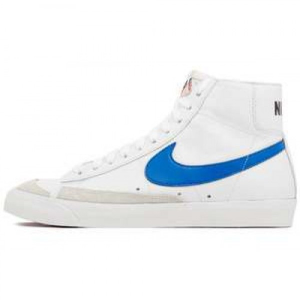 Nike Blazer Mid 77 PRM VNTG WHITE/SIGNAL BLUE-TM ORNG-BLK ナイキ ブレザー ミッド 77 プレミアム ヴィンテージ ホワイト/シグナルブルー 537327-100