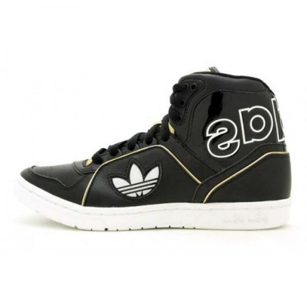 adidas アディダスECSTASY MID SLEEK W レディ エクスタシー MID スリーク 黒/金 (V24174) 新作登場限定セール