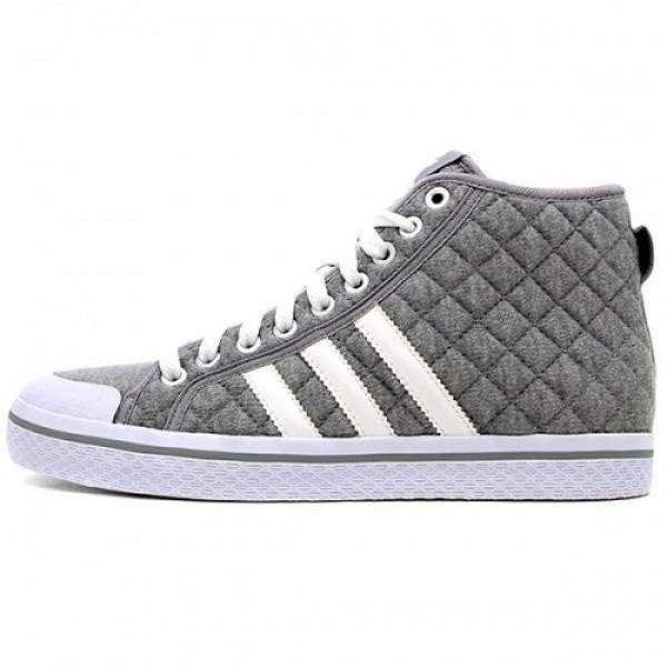 ウィメンズ アディダス オリジナルス ハニー ミッド ストライプス adidas Originals Medium Grey Heather/White/Aluminum g62612