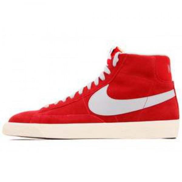 Nike Blazer Mid PRM VNTG Suede HYPR RD/STRT GRY-GM MD BRWN-TM ナイキ ブレザー ミッド ヴィンテージ スエード ハイパーレッド/グレイ 538282-601
