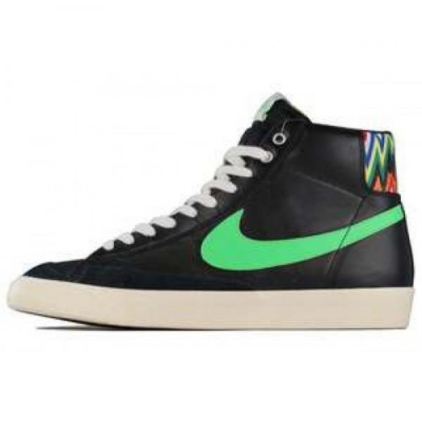 Nike Blazer Mid'77 PRM VNTG BLACK/POISON GREEN-SAI...