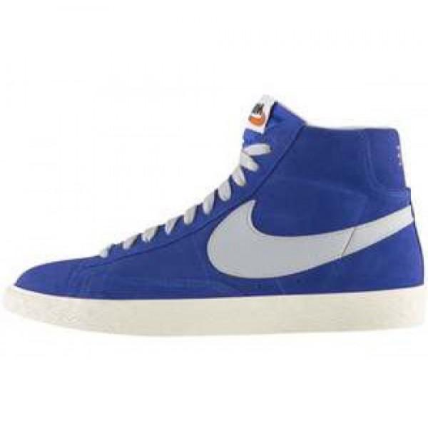 Nike Blazer Mid PRM VNTG Suede DP RYL BL/STRT GRY-...