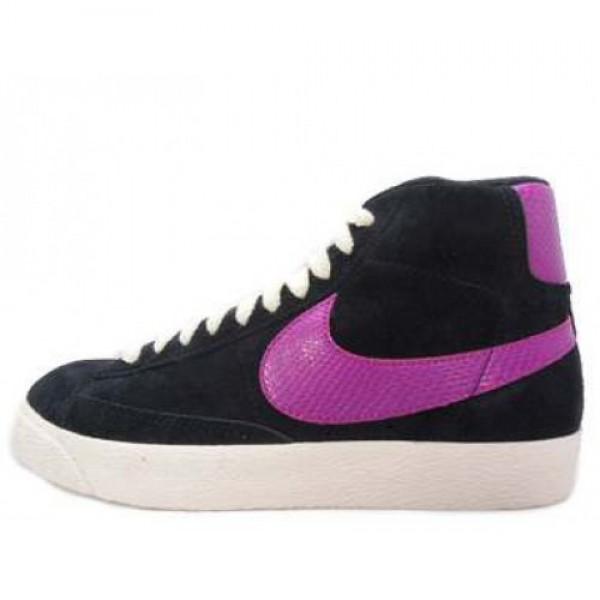 Nike Wmns Blazer Mid LTHR BLACK/RAVE PINK-NATURAL ナイキ ウィメンズ ブレイザー ミッド レザー ブラック/レイブ ピンク ナチュラル 375573-062