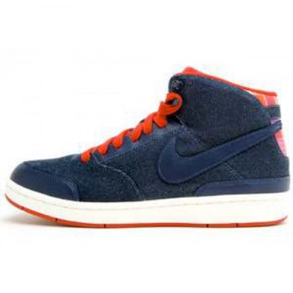 Wmns Nike Style Mid DENIM/SPORT RED-SAIL ウィメンズ ナイキ スタイル ミッド デニム/スポーツレッドセイル 511327-461