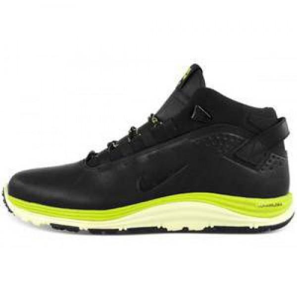 Nike Lunarridge OMS BLACK/BLACK-ATOMIC GREEN ナ�...