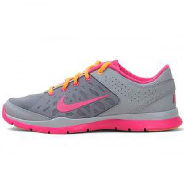 Wmns Nike Flex Trainer 3 STDM GRY/PNK FRC-BRGHT CT...